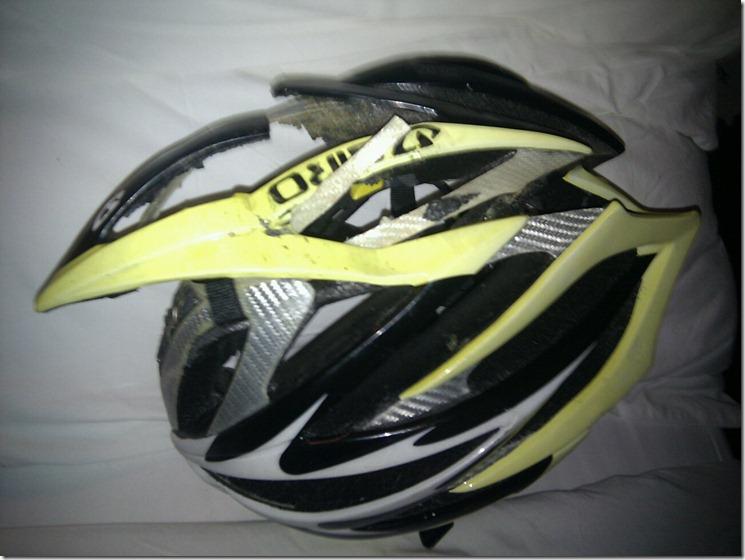 helmet crash